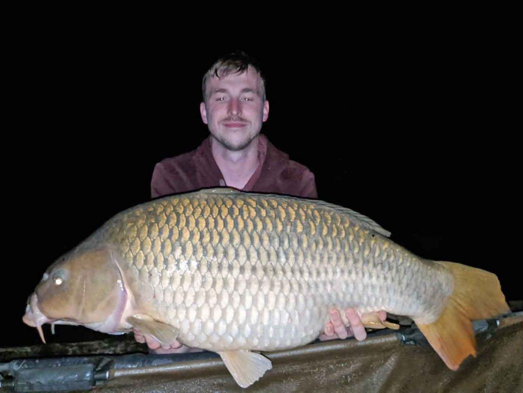 angler Jon with a 28lb common carp in france