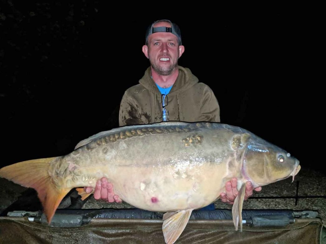 Paul with The Sub at 37lbs carp fishing in france