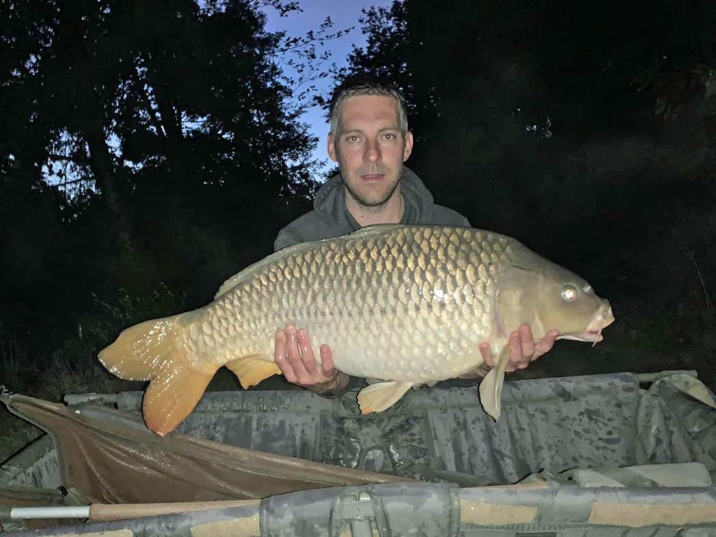 Steve with a 29lb 12oz common carp