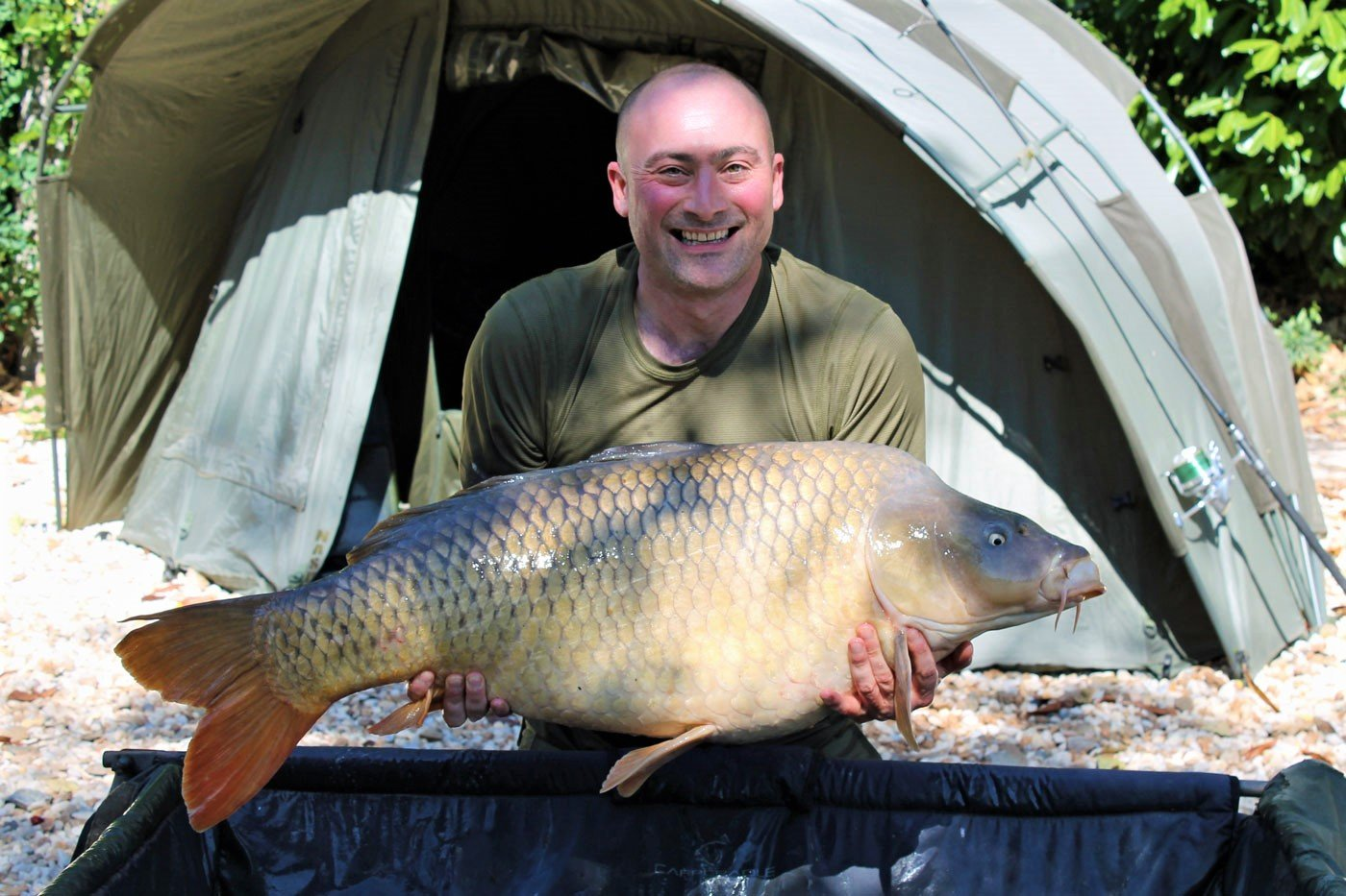 angler in france Simon with a 43lb common carp