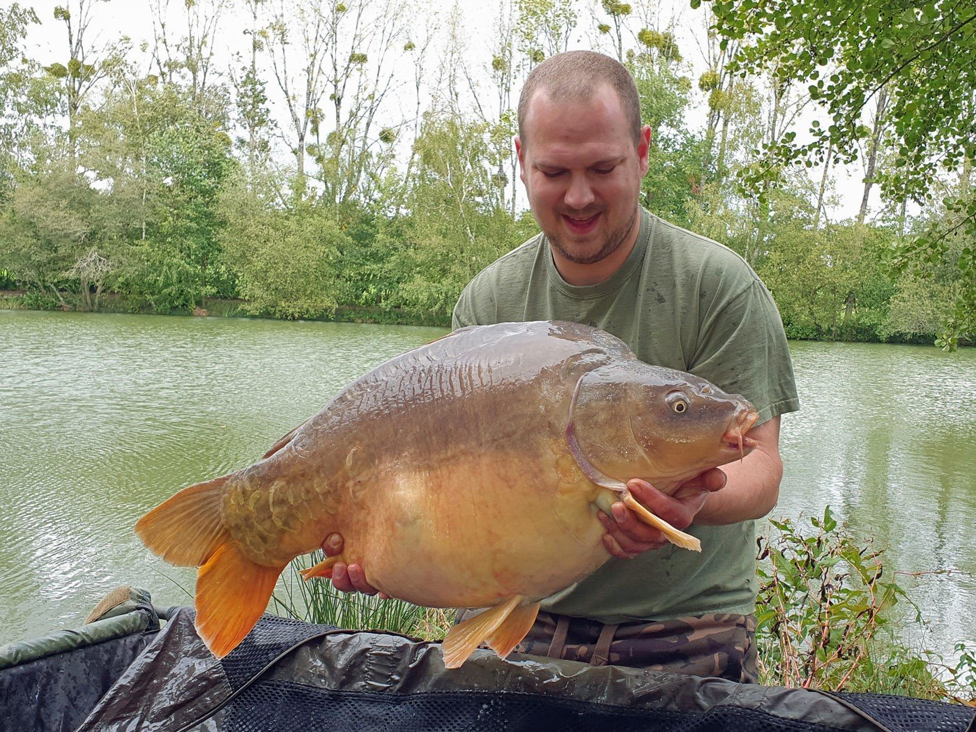 Andy with Gerrard a mirror carp of 38lbs 8oz