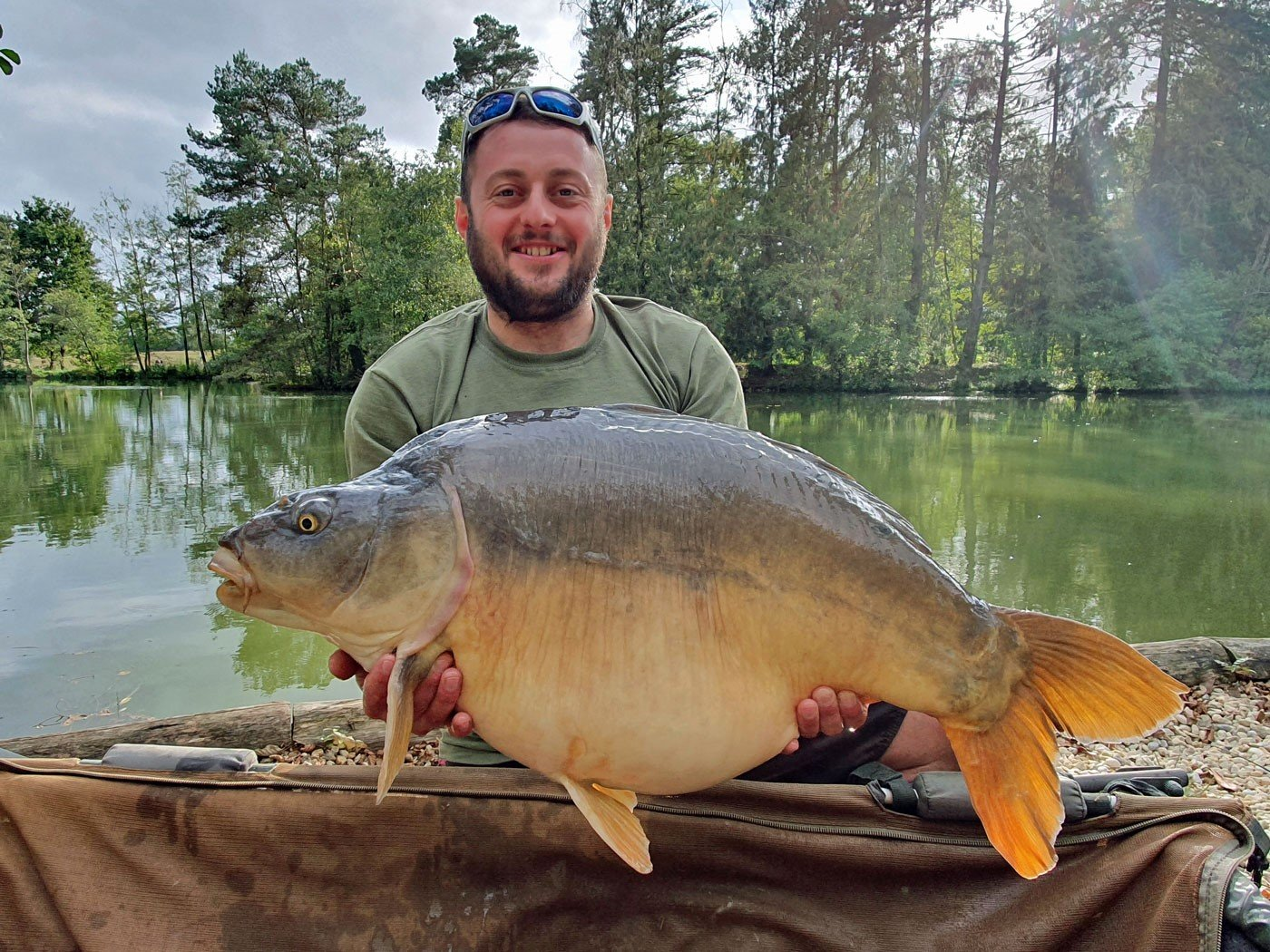 dan carp fishing in france with a 36lb mirror carp
