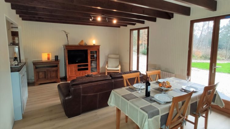 inside the new accommodation of the fishing gite