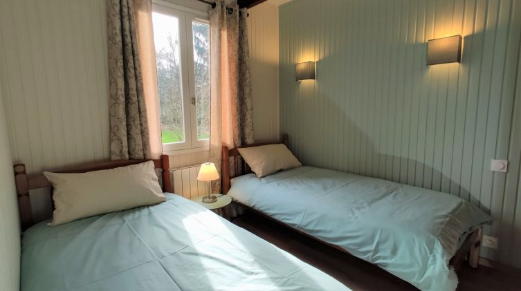 view of the bedroom in the fishing accommodation