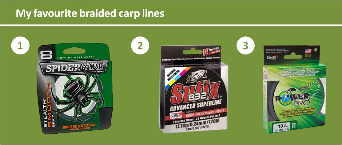 best braided mainlines for carp fishing