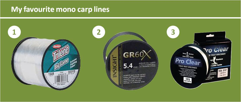 best mono mainlines for carp fishing