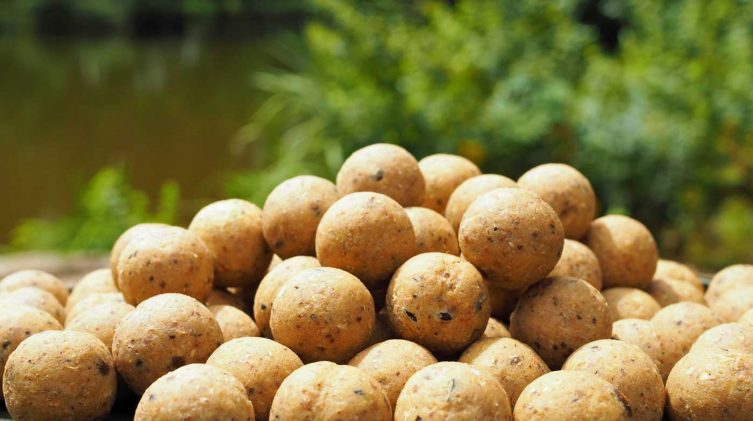 nutty banoffee boilies for carp fishing