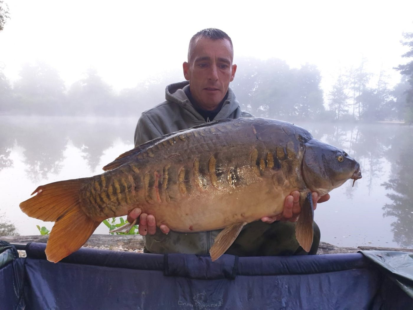 Lee with April at 27lbs