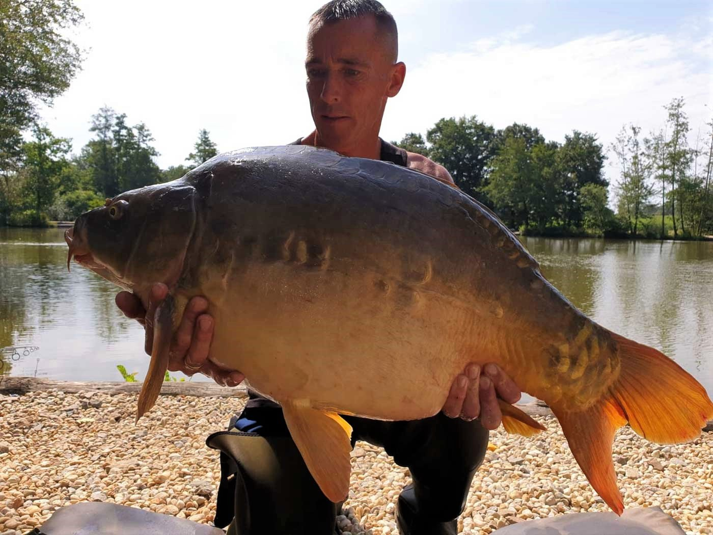 Lee with Bournville at 35lbs