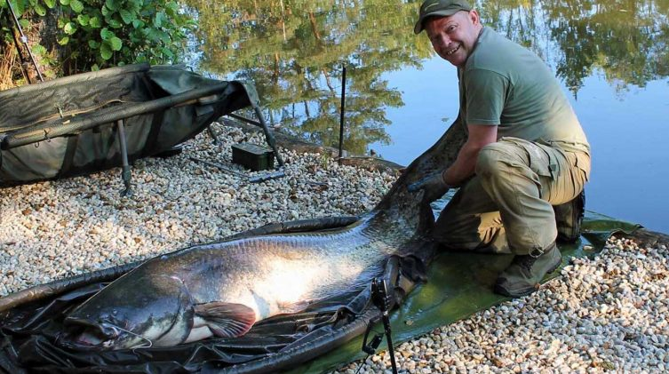 Rob with lake record catfish september 2020 france
