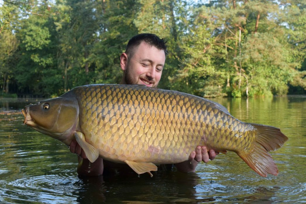 Max with Nicky a common carp of 37lbs 12oz
