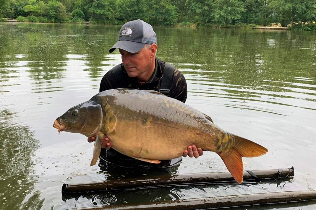 Rob with Stardust at 32lbs mirror carp
